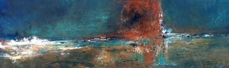 Abstrakte Malerei in Acryl von Julia Böhm