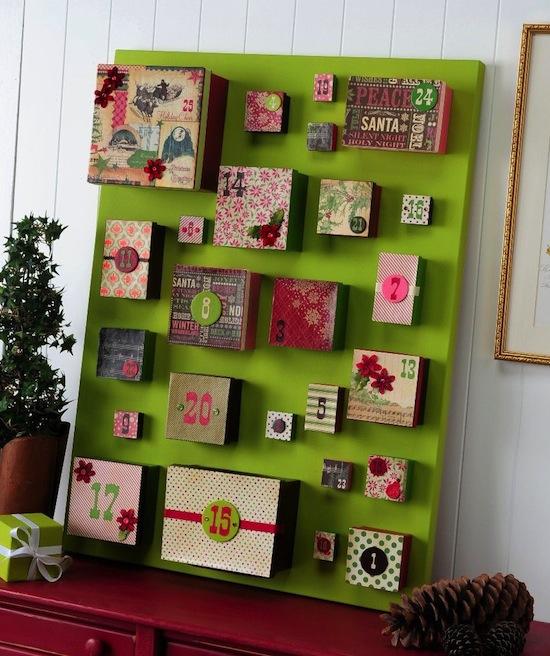 adventskalender basteln ideen f r einen selbstgemachten kalender. Black Bedroom Furniture Sets. Home Design Ideas