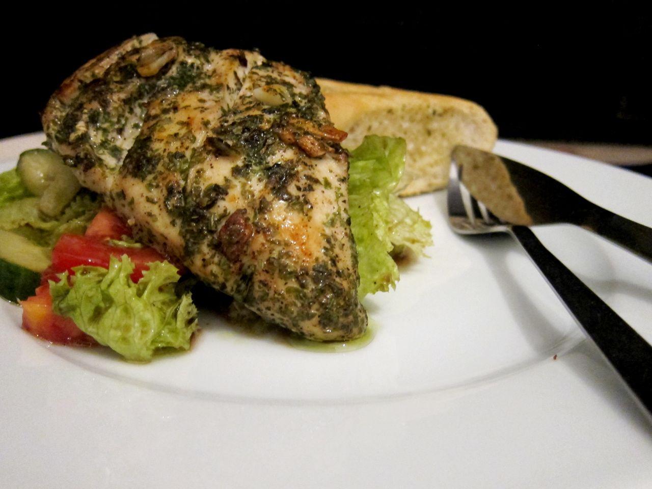 Leckere Rezepte: Knoblauch-Basilikum-Hühnchen