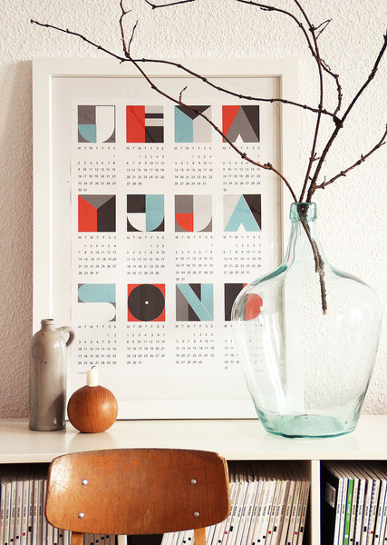 Kalender 2013 grafisch