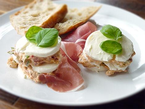 Vorspeise mit Parmaschinken