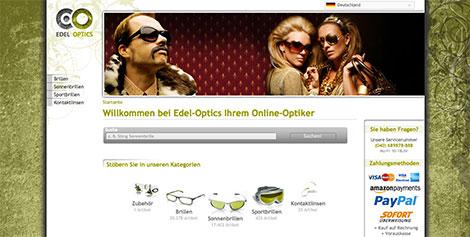 Sonnenbrillen bestellen auf www.edel-optics.de
