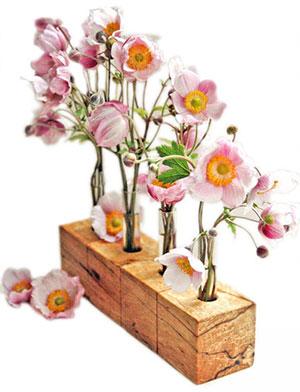 Birkenwürfel-Vase