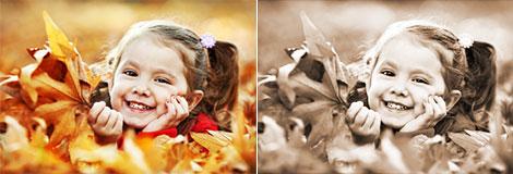 Bildbearbeitungsmöglichkeit Sepia-Einfärbung