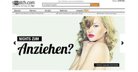 700 Online-Shops gleichzeitig durchsuchen auf Smatch.com