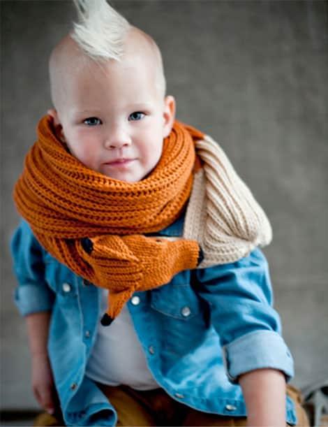 Schal mit Fuchs für Kinder