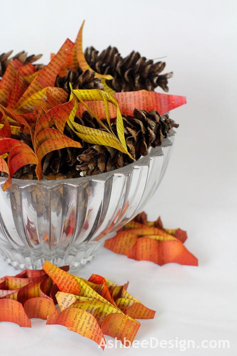 Papieranhänger für den Herbst