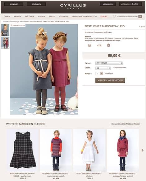 Mädchen-Kleider im Onlineshop www.cyrillus.de