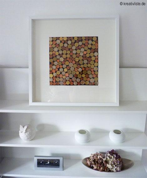 geldgeschenk mit m nzen basteln als wandbild zur hochzeit. Black Bedroom Furniture Sets. Home Design Ideas