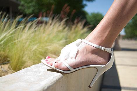 Wie man mit hohen Schuhen richtig läuft