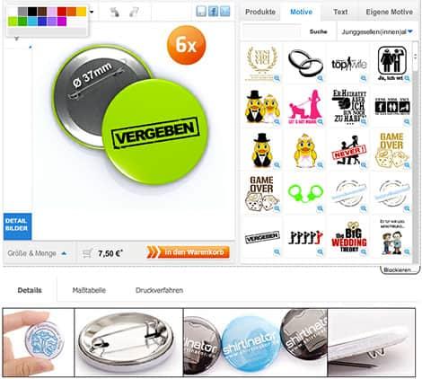 Buttons für verschiedene Anlässe drucken lassen