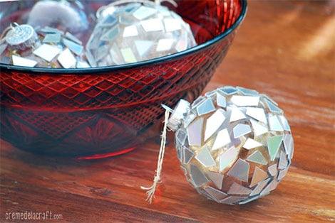 Basteln zu weihnachten kreative ideen aus papier stoff und holz - Basteln mit alten cds ...