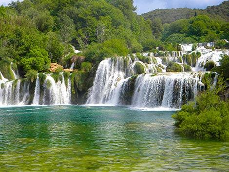 Wasserfall Krk in Kroatien