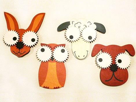 Zahnrad-Tiere für die Kinderzimmergestaltung