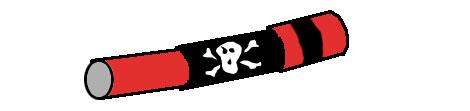 Fernrohr für Piraten aus Küchenrolle selbst basteln