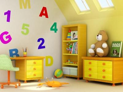 Kinderzimmerwand gestalten