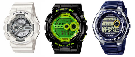 Casio Uhren sind besonders robust und unempfindlich