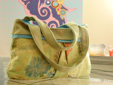 Handtasche selbst genäht