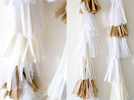 Tauffeier mit papier dekorationen und blumen ideen kreativ for Dekoration quasten