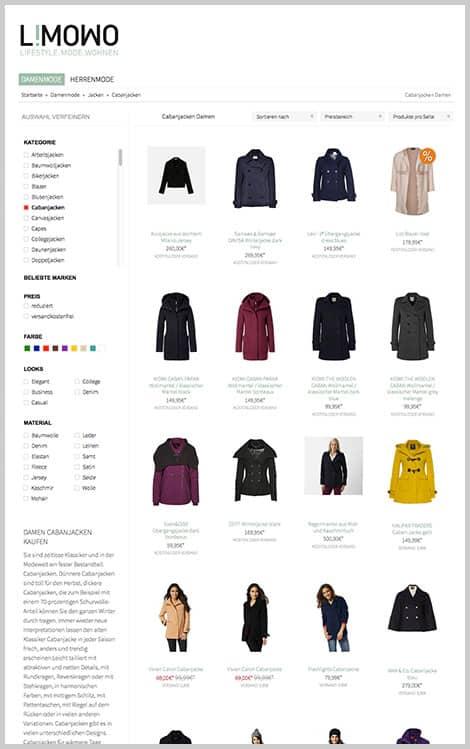 Shoppen durch mehrere Onlineshops gleichzeitig