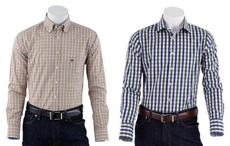 Karohemden gehören im Winter 2013/14 zu den Modetrends für den Mann