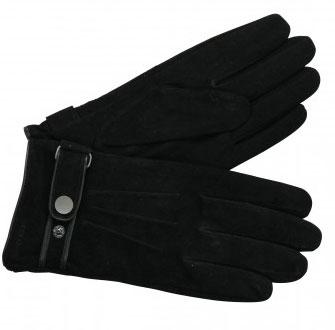 OTTO KERN Handschuhe in Schwarz aus Veloursleder