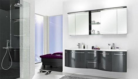 Runde Formen bei Badezimmermöbeln, PELIPAL Primadonna