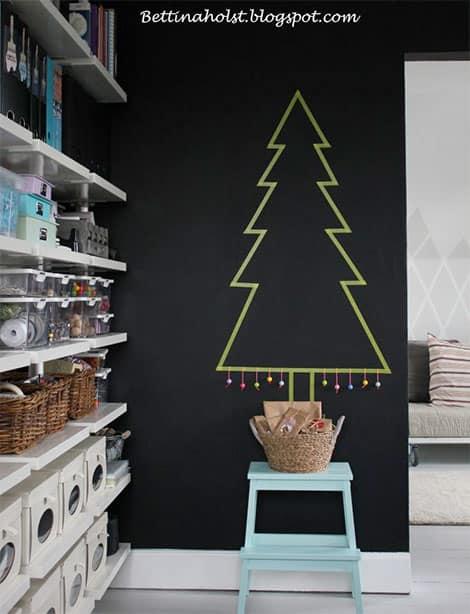 Weihnachtsbaum-Dekoration mit Masking Tape