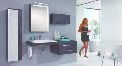 Badezimmerarmaturen betonen