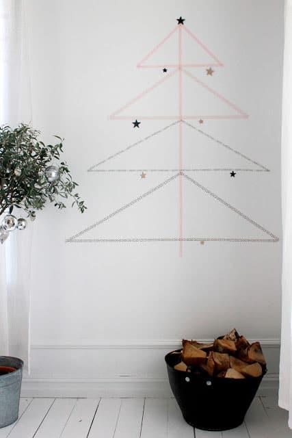 Weihnachtliche Dekoration mit Masking Tape