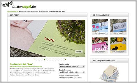 Babykarten drucken lassen bei www.kartenengel.de