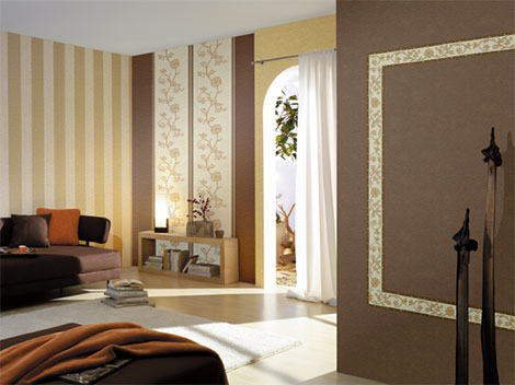 moderne wandgestaltung mit farben und tapeten für ein neues ambiente - Wandgestaltung Mit Drei Farben