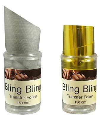 BLING BLING Transfer Nagelfolie
