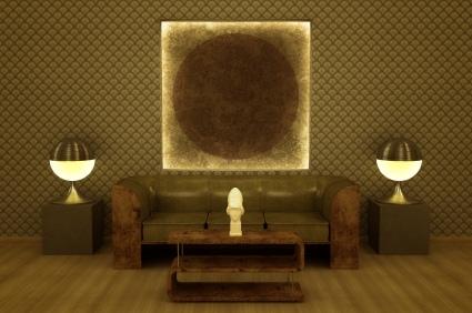 Kunst-Originale geben dem Raum eine exklusive Note