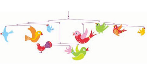 Mobile von Djeco mit Vogelmotiven