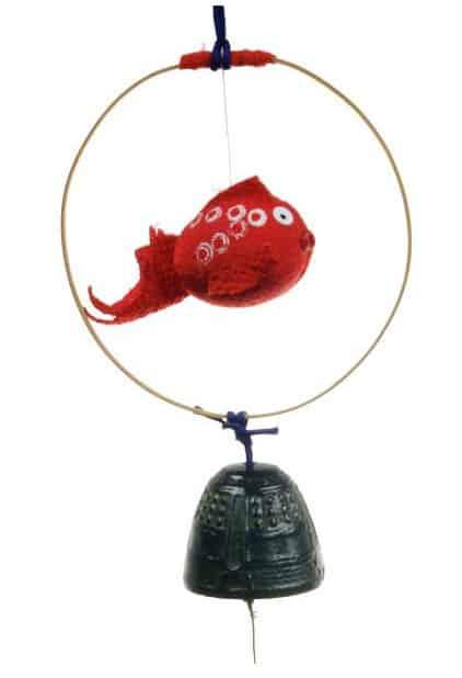 Windspiel Koi & Glocke