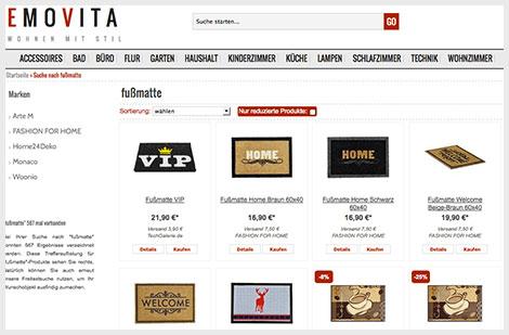 Fußmatten als Geschenk zum Einzug bei www.emovita.de