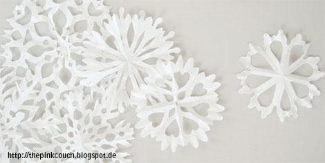 bastelideen im winter mit watte papier und sten kreativ dekorieren. Black Bedroom Furniture Sets. Home Design Ideas