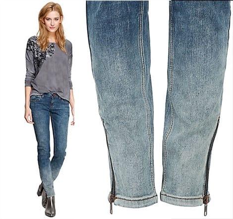Hier trifft der Ombre-Look auf Jeans