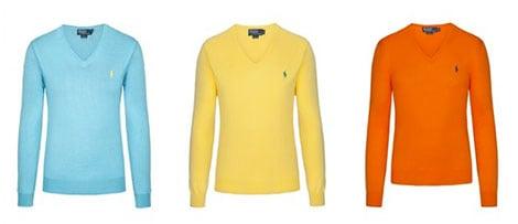 Herrenmode-Trends: Frische Farben wie beim Polo Ralph Lauren Slim Fit V-Neck