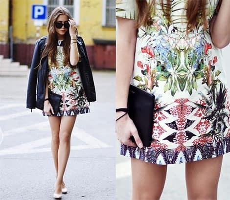 Tropen-Print auf Kleidern