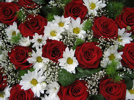 Blumen bleiben romantisch