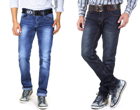 BRIGHT FASHION Hüftjeans straight fit und R-NEAL Jeans (Stretch) slim fit