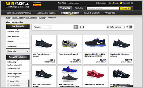 Online-Shopping bei meinpaket.de