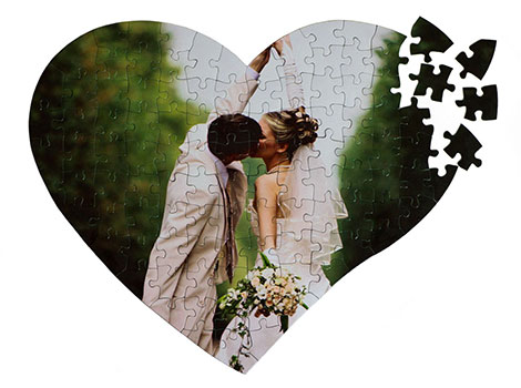Puzzle in Herzform