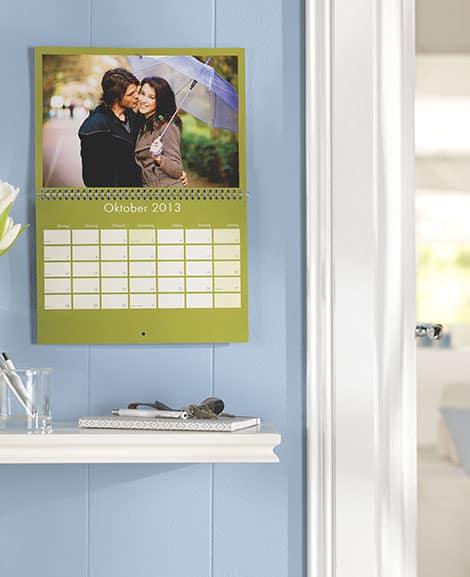 Fotokalender mit viel Platz zum Notieren von Ereignissen
