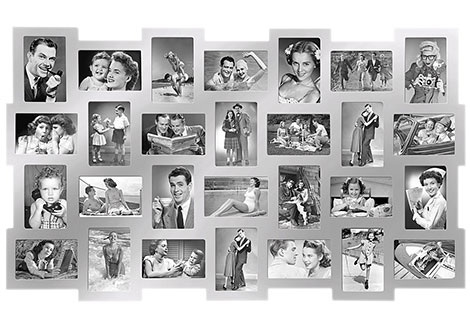 Hier finden 28 Bilder in einem Rahmen Platz