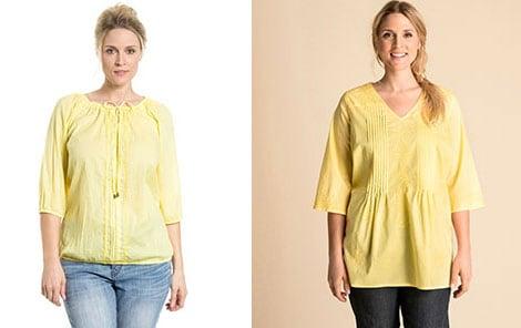Die Trendfarbe Gelb ist auch in großen Größen gut tragbar
