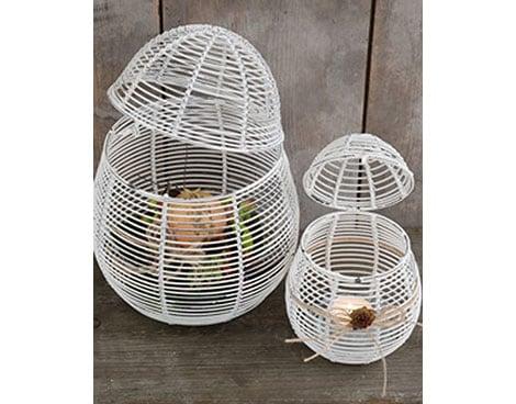 Metallkorb für Eier, zum Bepflanzen oder als Windlicht nutzbar