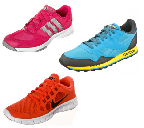 Sportschuhe in Neonfarben gehören zum Trend Sport-Chic 2014